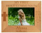 PERSONALISED FIRST COMMUNION PHOTO FRAME, CROSS & VERSE,RELIGIOUS GOD BLESS GIFT