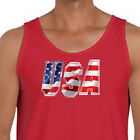 USA Patriotic Flag Red White and Blue Tee Stars and Stripes America Men's Tank