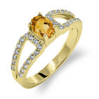 1.08 Ct Oval Natural Yellow Citrine 14K Yellow Gold Ring