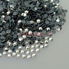 1440Pcs 3D Acrylic Clear Crystal Facets Flat Black Back Nail Art Gems Decals Tip
