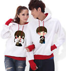 4 Colors Pure love Lovers Couples Hoodie Leisure Thick warm Women Men EMB6063