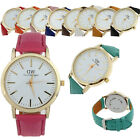 1PC Details About Unisex Markers Dial Band Analog Wrist Watch Couple Tide