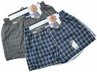 3 Mens Woven Classic Boxer Shorts Loose Fitting Cotton Underwear / All Sizes