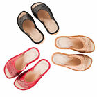 Ladies/Womens 100% Natural Leather Slippers Size:3,4,5,6,7,8 / Cream, Red, Black