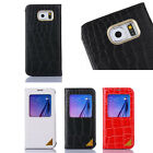 View Window Smart Sleep Leather Case Cover For Samsung Galaxy S6 G9200 Tide