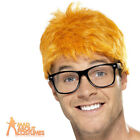 90s TV Host Wig & Glasses Ginger Chris Evans Hair Mens Fancy Dress Costume