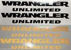Set of 2 Jeep Wrangler Unlimited Replacement Fender Decal Matte; Reflective