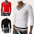 J Fashion Mens Top Design Slim Fit V-Neck T-Shirts Muscle Casual Tops Tee Shirts