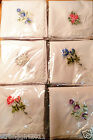 SALE A dozen of Chinese classical embroidery craft/white bud silk handkerchiefs