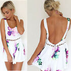 Sexy Celeb Floral Party Evening Playsuits Romper Shorts Summer Dresses Jumpsuits