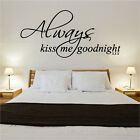 Always Kss Me Goodnight Citation Décalco Vinyle Mural Autocollant