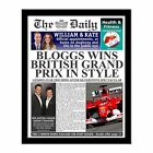 Personalised Grand Prix Newspaper with Photo Gift Ideas Racing Car F1 Fans