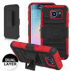 Outer  Box Case Cover with  Belt Clip Holster Stand for Samsung Galaxy S6 Edge
