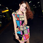 Summer Women Dress Sleeveless Chiffon Dress Print Casual Plaid Party Mini Dress