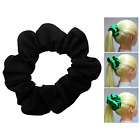 Black Soft & Silky Scrunchie Ponytail Holder Hair Accessories  50+Colors