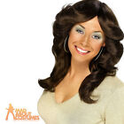 70s Flick Wig Brown ABBA Farrah Fawcett Charlie's Angels Fancy Dress Costume