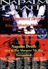 NAPLAM DEATH Fear, Emptiness Despair 1994 Tour PHOTO Print POSTER Entombed 003