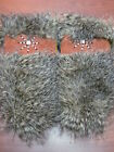 NATIVE AMERICAN PAIR OF MITTS TANNED HIDE WITH FUR BEADED SMALL