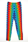 Adult TIE DYE Leggings Rainbow DNA hippie art boho long johns sm med lg xl 2x