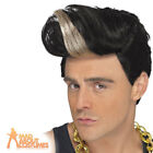 Mens Vanilla Ice Rap Star Wig 1990s Black Fancy Dress Costume Accessory New