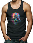 Neon Melting Skull Men's Tank Top T-shirt