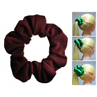 Burgundy Soft & Silky Scrunchie Ponytail Holder Hair Accessories  50+Colors
