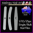nail files sanding buffer manicure art tool Double sided 100/180 Grit bulk