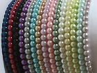 """Stackable 10"""" Stretch 6 mm Glass Pearl Ankle Anklet Bracelet - Many Colors"""