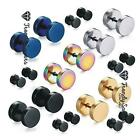 1 Pair Top Quality Fake Black Ear Stretcher Plugs Cheater Men's Earrings 3-12mm