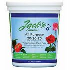 Jacks Classic All Purpose 20 20 20 fertilizer plant food 8oz/1.5lb/4lb/25lb
