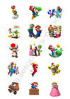 Super Mario Bros. Edible Print Cupcake/Cookie Toppers Frosting Sheets 2 Sizes