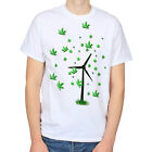 GREEN ENERGY 420 WEED DOPE POT STONER HUMOUR CANNABIS HIPSTER MENS T-SHIRT TEE
