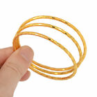 4pcs/set Gold Silver Plated Lovely Children Kid Baby Bangle Bracelet