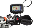 MotorBike 8-16mm Mirror Mount + Water Resistant GPS Case for Garmin Nuvi Sat Nav