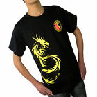 Bruce Lee Jeet kune do martial arts Kung Fu training  clothes T-shirt black