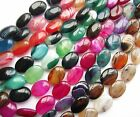 "Agate 25mm large glossy oval beads. Full 15.75"" strand (16 beads) SP100"