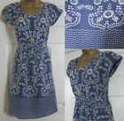 "NEW EX WHITE STUFF ""SUMMER BLOSSOM"" FLORAL TEA SUN DRESS MAUVE BLUE LILAC 8-18"