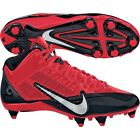 new mens nike alpha pro mid 3/4 D/detachable football/lacrosse/cleats red/black
