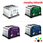 NEW MORPHY RICHARDS  ACCENTS 4 SLICES TOASTER STAINLESS STEEL ELECTRIC AUTOMATIC