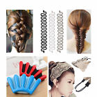 Women Hair Braider Maker Styling Clip Crocheted Elastic Headband DIY Accessary E