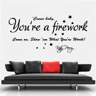 Katy Perry Fireworks Song Lyrics Wall Art Vinyl Transfer Decal Mural Sticker