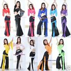 Brand New Sexy Belly Dance Costume Set Top & Pants 11 Colors Free Shipping