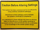 Caution Before Altering Setings , Electrical, Solar, Boilers, Safety Labels