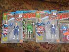 2 Invisible Woman, DOC DOOM, Captain America 1993  Marvel Super Heroes - Toy Biz
