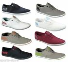Henleys Mens Lace Up Canvas Shoes pumps UK 7-12 In original poly packing