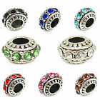 Mixed Silver Tibetan Spacer Beads Fit European Charm Bracele Jewelry Making 12MM