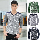 Men Fashion Slim Fit Cotton Casual Sports Long Sleeve Casual T-Shirt Tops Tee