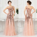 New Tulle &Sequins LONG Prom Maxi Dress Bridesmaid dresses Formal evening gowns