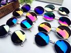 New Unisex Vintage Retro Men Women Round Metal Frame Sunglasses Glasses Eyewear