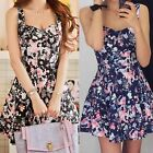 Sexy Women Evening Cocktail Dress Sleeveless Casual Party Floral Mini Dress Hot